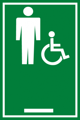 ADA MensHandicap Restroom Sign ADA MensHandicap Bathroom - Handicap bathroom sign