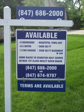 Yard Arm Real Estate Sign With Double Sided Aluminum
