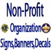 Non-Profit Organization Signs,Banners & Decals